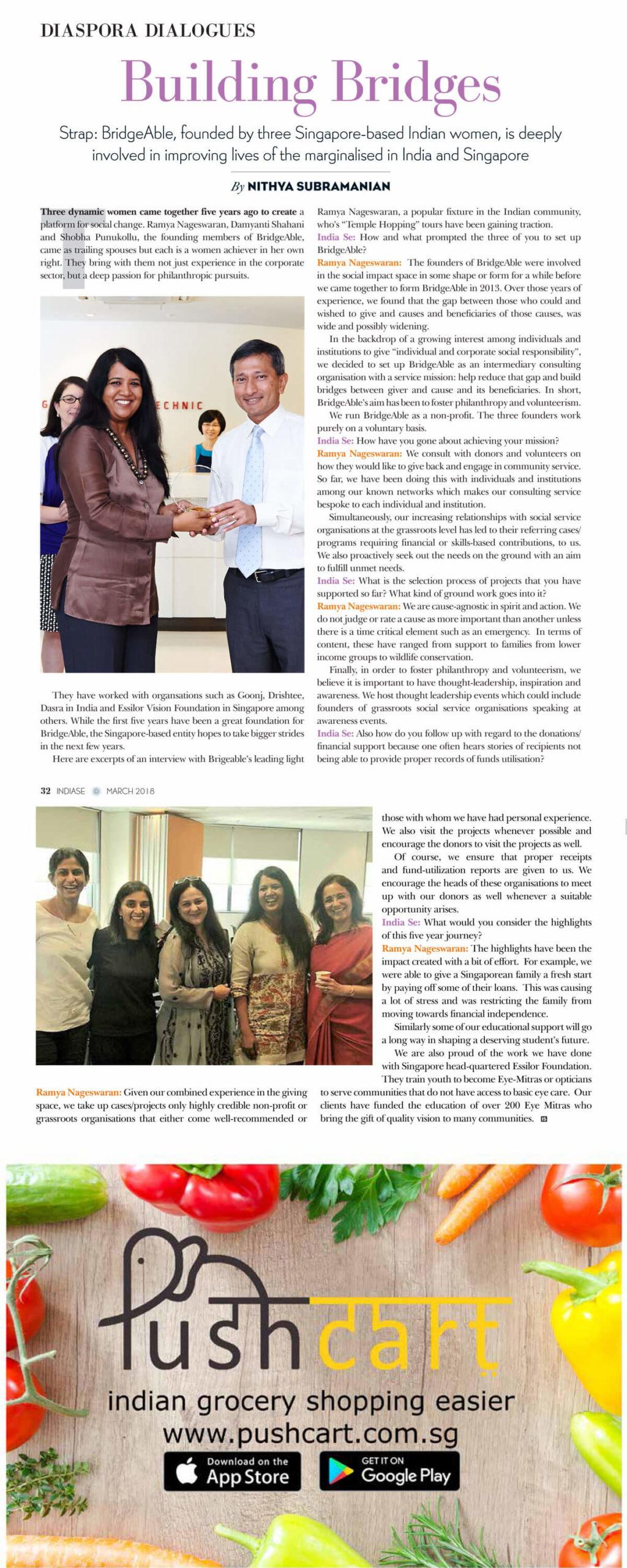 INDIA SE - Magazine, Building Bridges