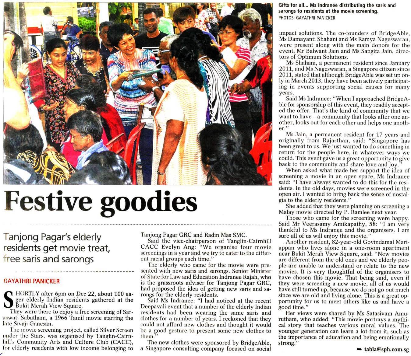 Tabla Article on Silver Screen under Stars Project